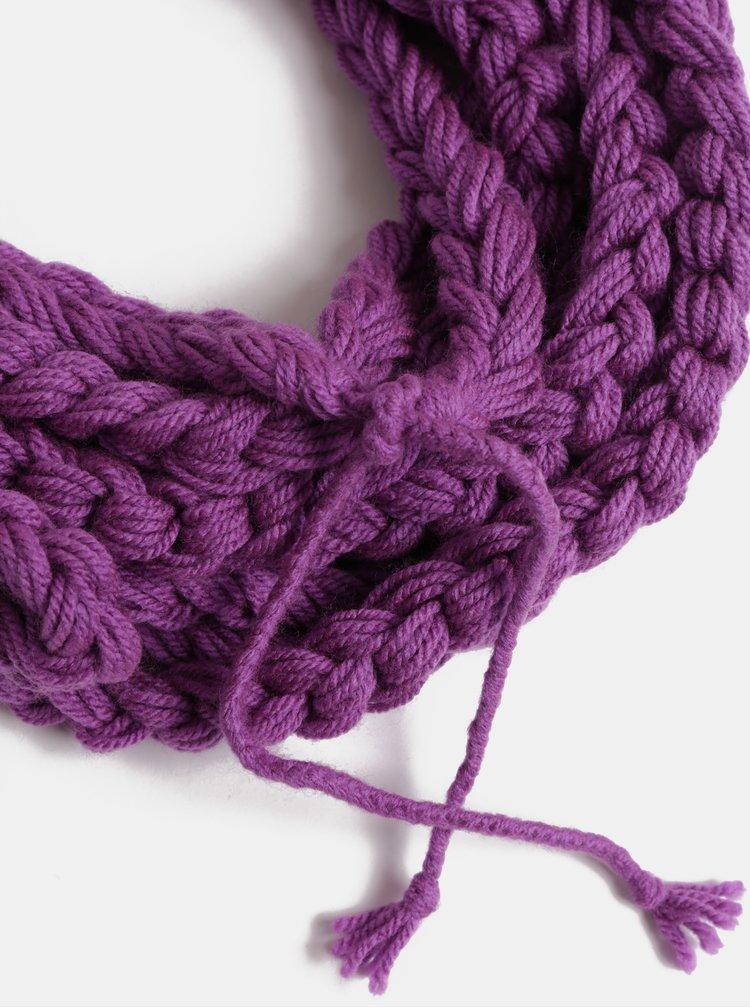 Fialová dámská pletená šála DOKE