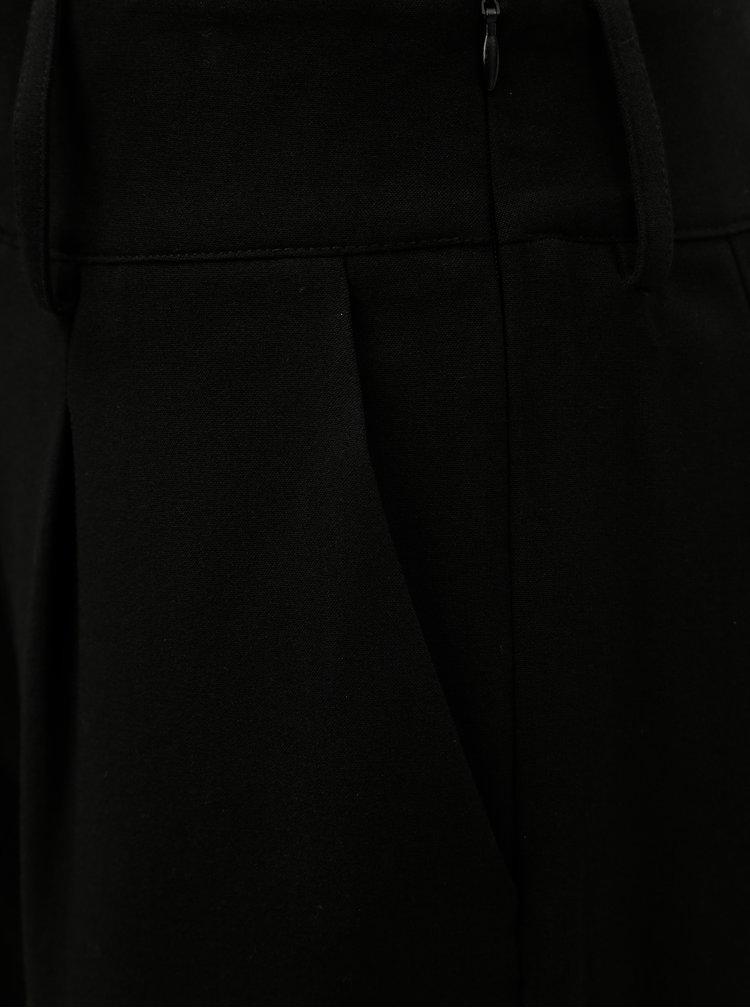 Černé kalhoty s vysokým pasem Jacqueline de Yong Felix