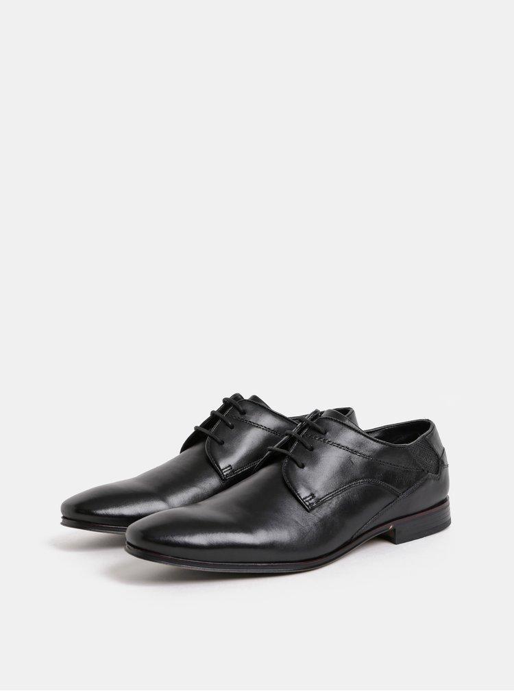 Pantofi barbatesti negri din piele bugatti Morino