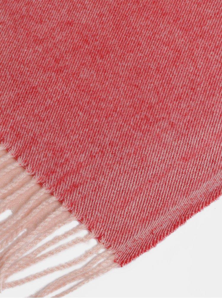 Fialovo-růžová šála s příměsí vlny Pieces Jira