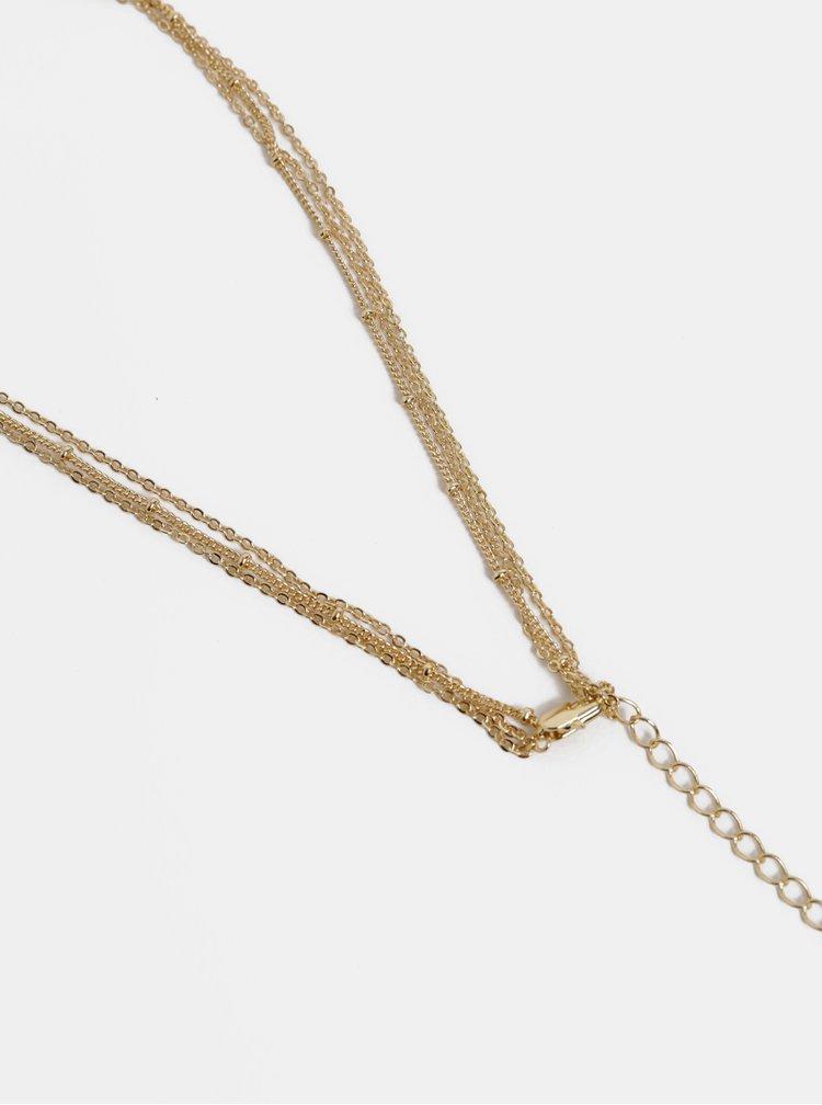 Náhrdelník ve zlaté barvě Pieces Felia