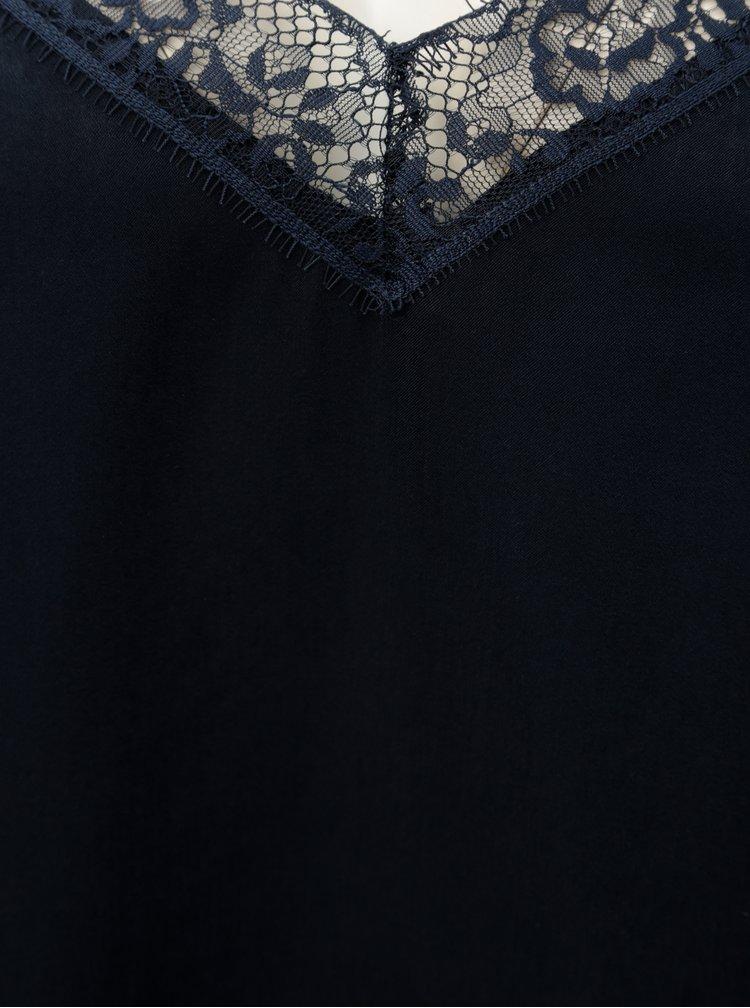 Tmavě modrý top s krajkovými detaily Jacqueline de Yong Fun