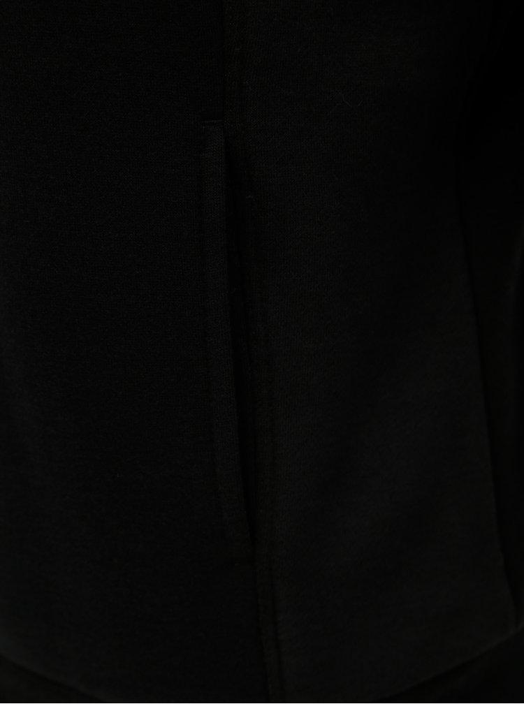 Čierna mikina s kožúškom ONLY Saga