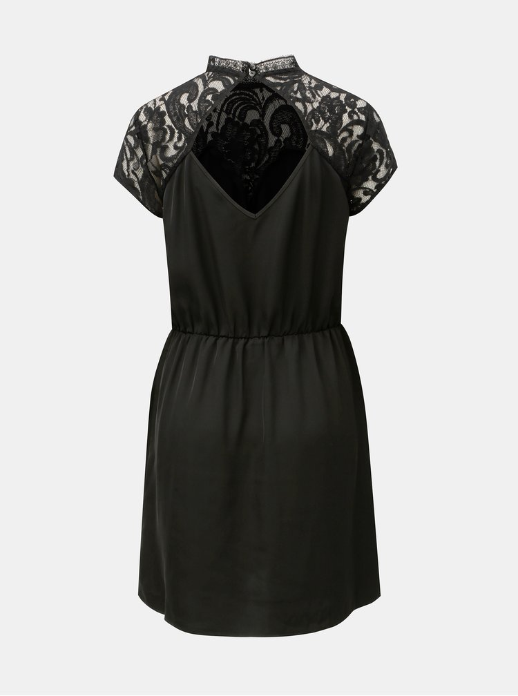 Černé šaty s krajkou a průstřihem na zádech Jacqueline de Yong Fabio