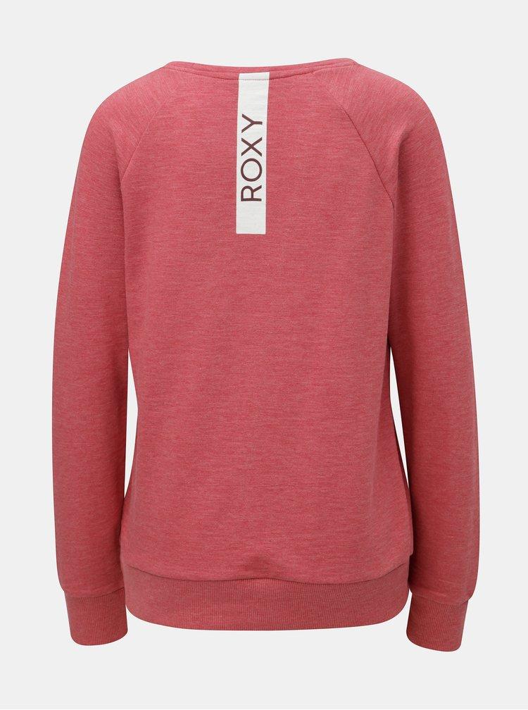 Bluza sport rosie de dama cu imprimeu la spate Roxy Sunrise
