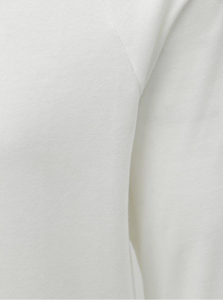 Tricou basic muscle fit alb cu maneci lungi Burton Menswear London