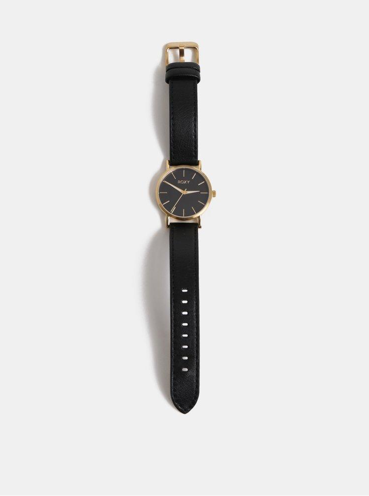 Ceas de dama cu curea neagra din piele Roxy Maya