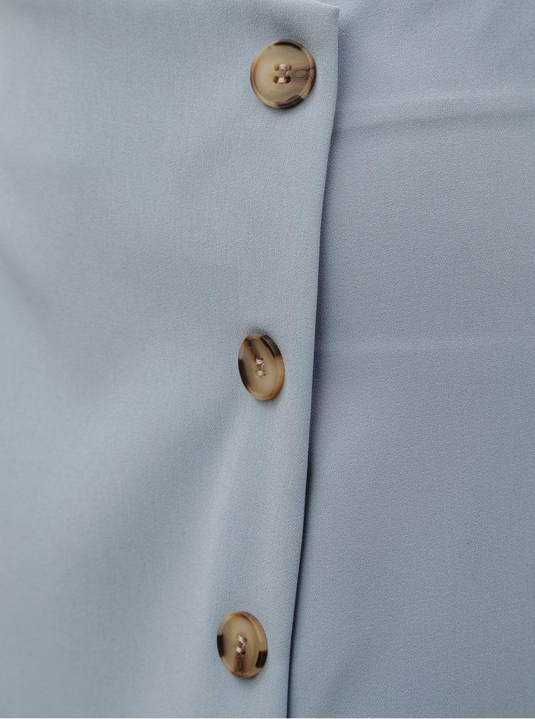 Svetlomodrá puzdrová sukňa s gombíkmi Miss Selfridge