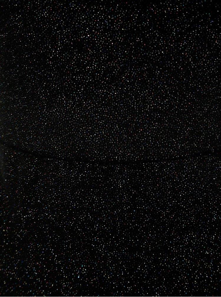 Černé pouzdrové minišaty se třpytivým efektem Miss Selfridge Glitter