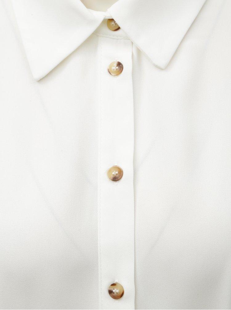 Bílá košile s nabíráním v pase Miss Selfridge