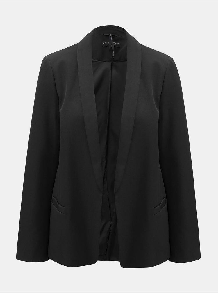 Černé sako s rozparkem na rukávech Dorothy Perkins