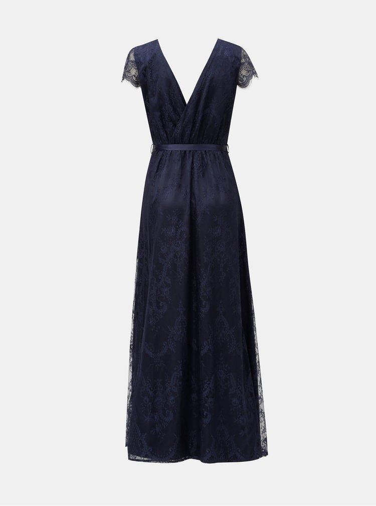 Rochie maxi albastru inchis din dantela Dorothy Perkins Isla