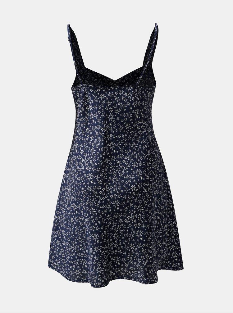 Camasa de noapte albastru inchis cu motiv stele M&Co Star