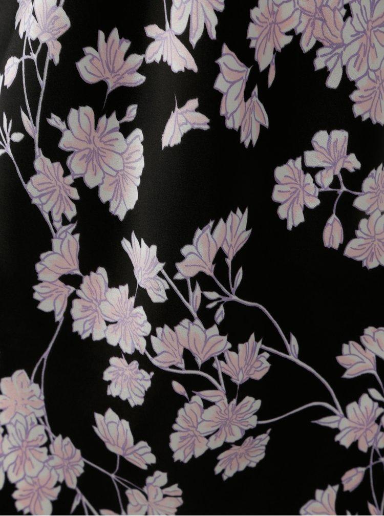 Černá květovaná košilka M&Co Purple