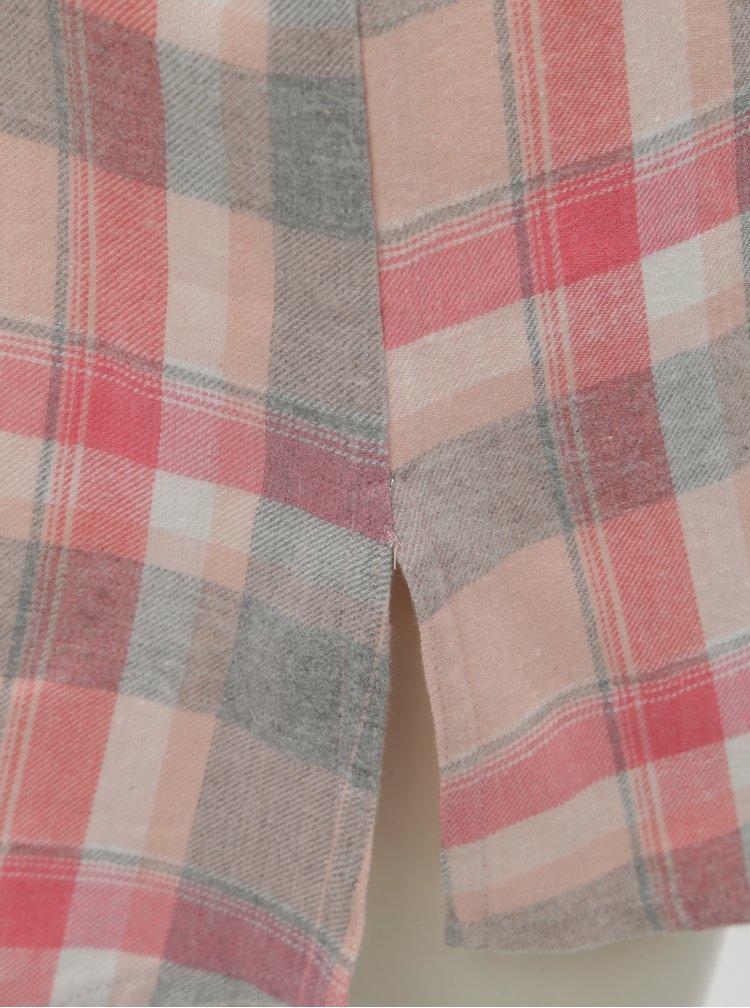 Růžová kostkovaná noční košile Dorothy Perkins