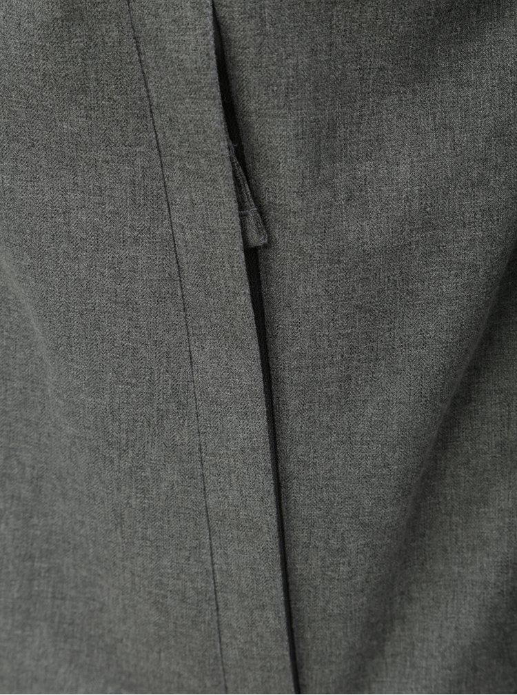 Jacheta barbateasca albastru-gri functionala de iarna cu imprimeu Horsefeathers Gannet