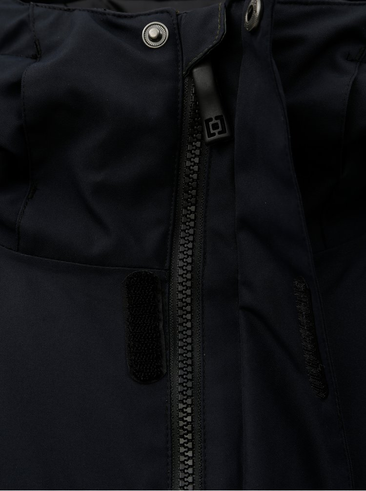Jacheta barbateasca albastru-verde functionala de iarna cu model si imprimeu Horsefeathers Gannet