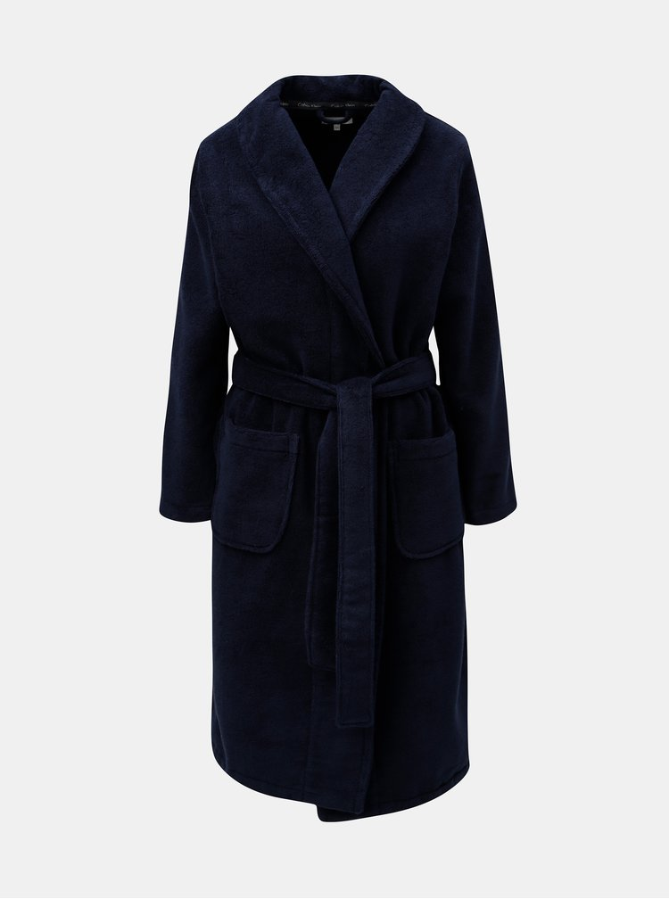 Halat de baie albastru inchis de dama Calvin Klein Underwear