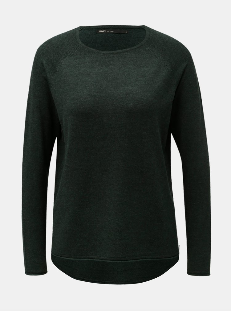 Tmavě zelený lehký svetr ONLY
