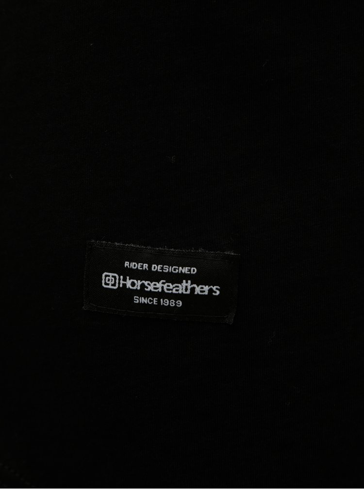 Čierne dámske voľné tričko s krátkym rukávom a nášivkou Horsefeathers Talia