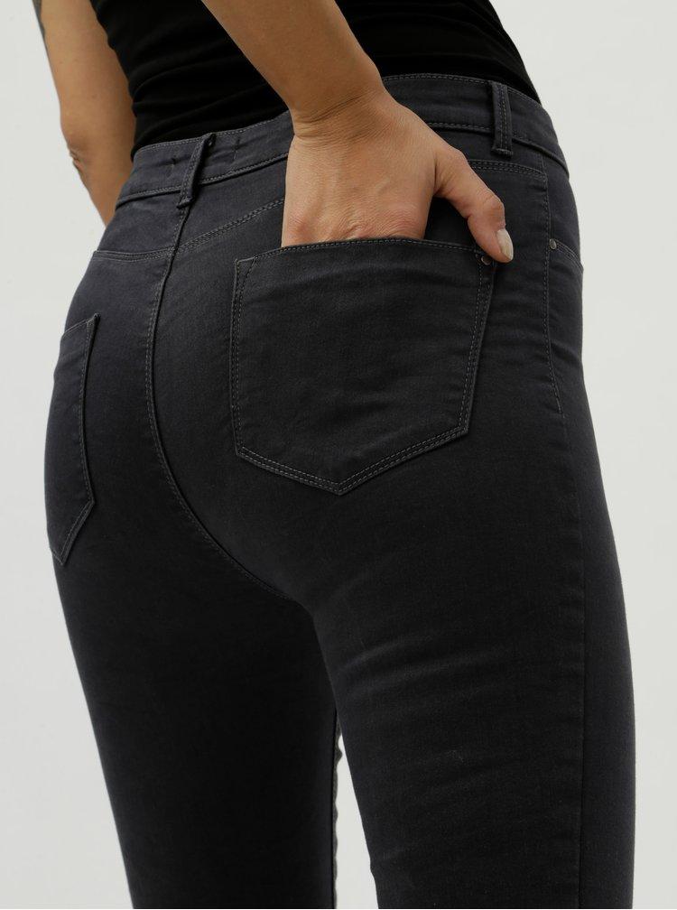 Tmavě šedé regular skinny džíny Dorothy Perkins Frankie