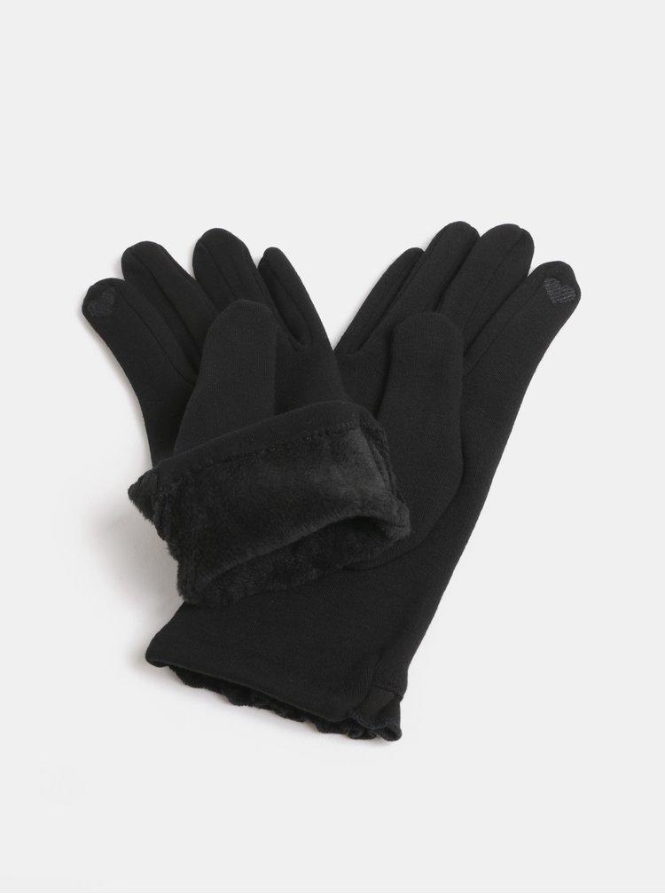 Černé rukavice s mašlí Dorothy Perkins Jersey