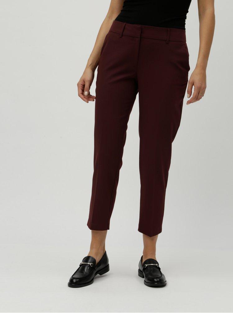 Vínové chino kostýmové nohavice Dorothy Perkins