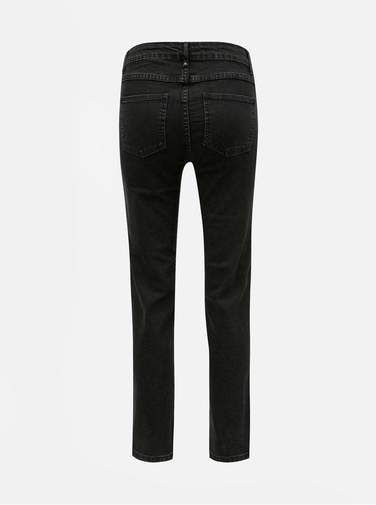 Černé zkrácené straight džíny VILA Barcher