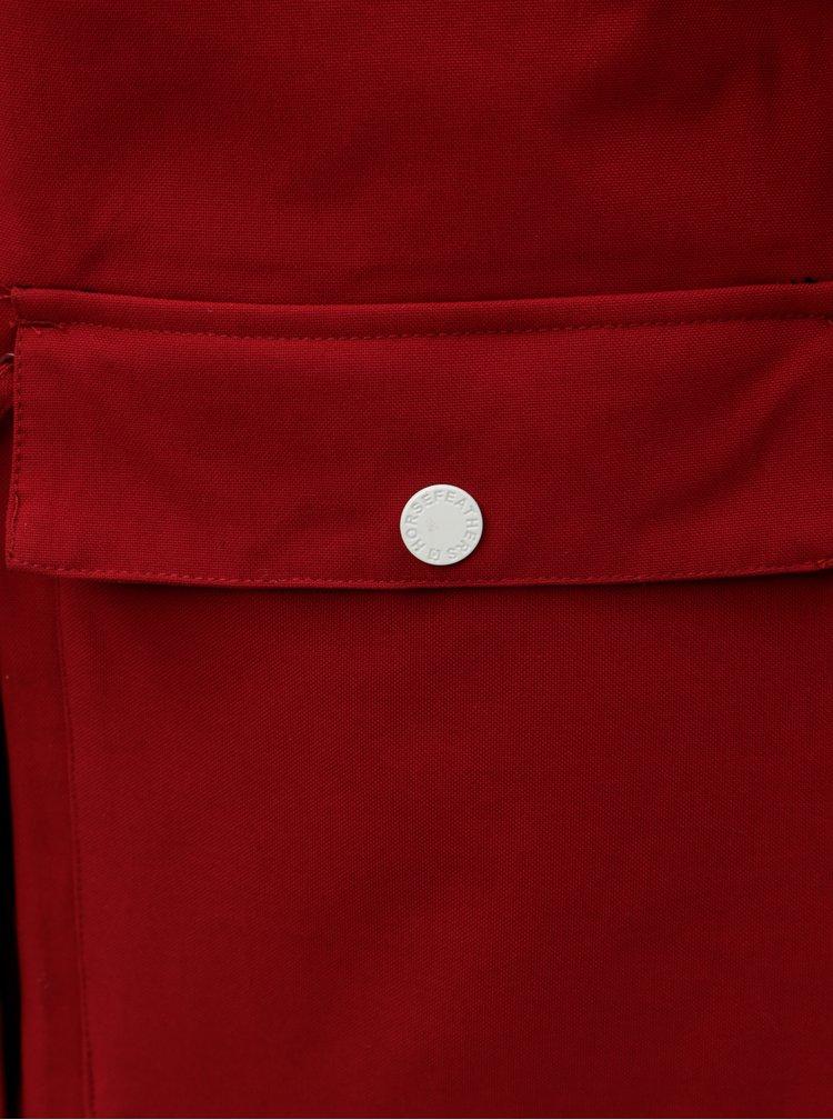 Červená dámska funkčná zimná parka so zateplenou podšívkou Horsefeathers Getty