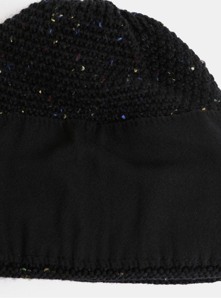 Černá dámská žíhaná čepice s fleecovou podšívkou Horsefeathers Likun
