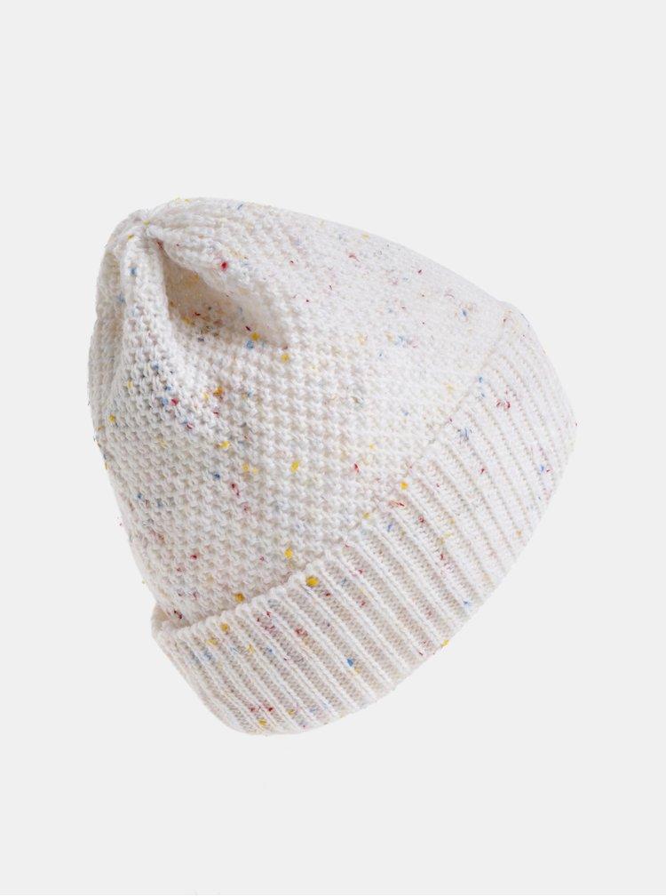 Bílá dámská žíhaná čepice s fleecovou podšívkou Horsefeathers Likun