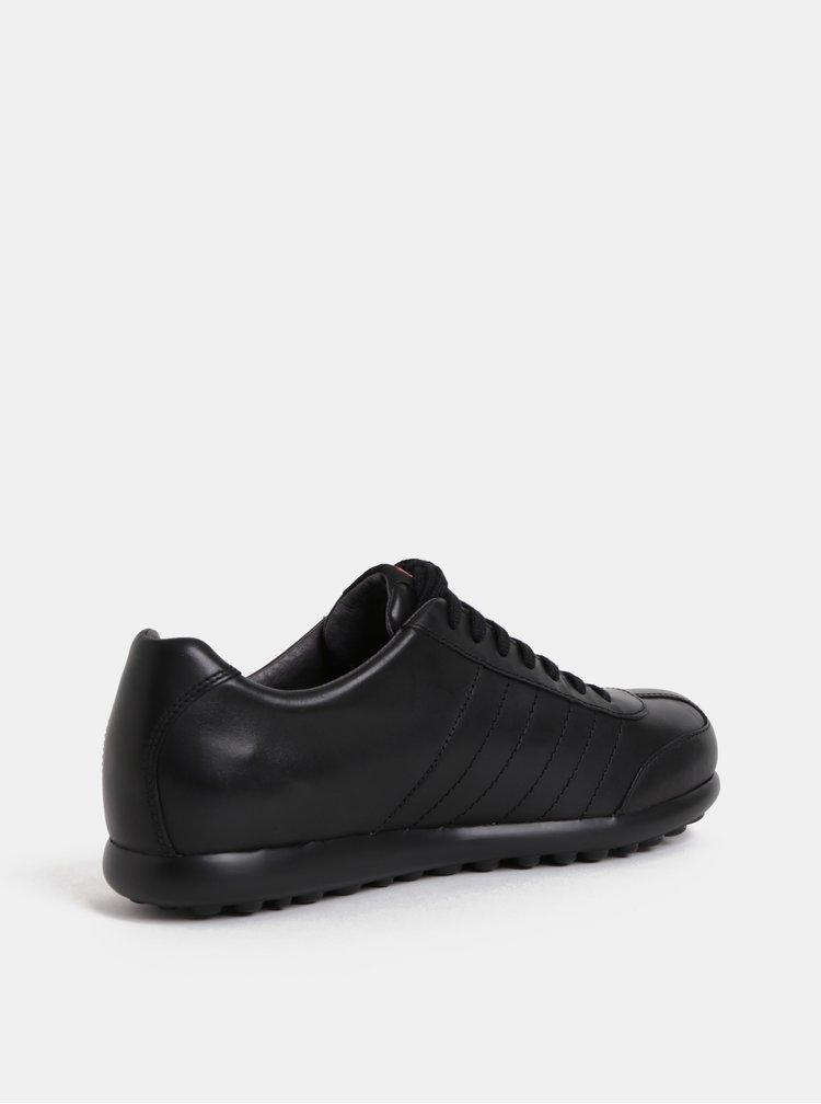Černé pánské kožené prošívané tenisky Camper Pelotas