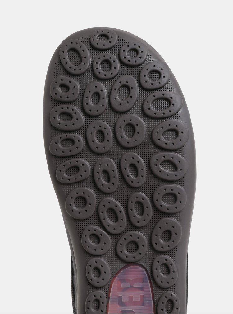 Černé pánské kožené voděodolné tenisky se zateplenou podšívkou Camper Peu Pista
