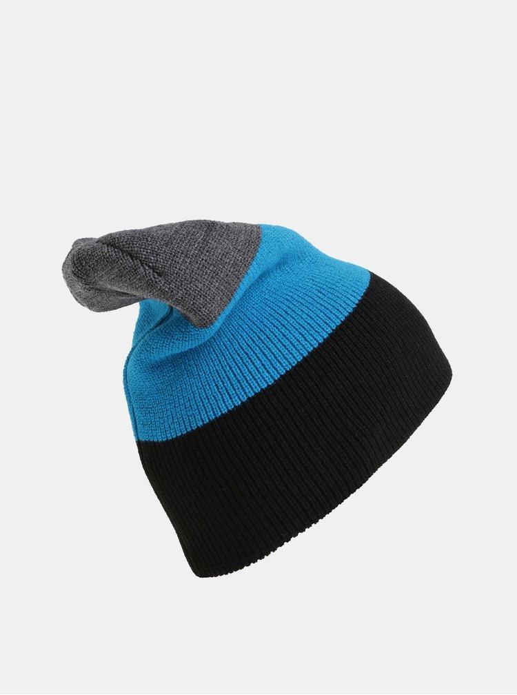 Čierno–modrá pánska pruhovaná čiapka Horsefeathers Matteo