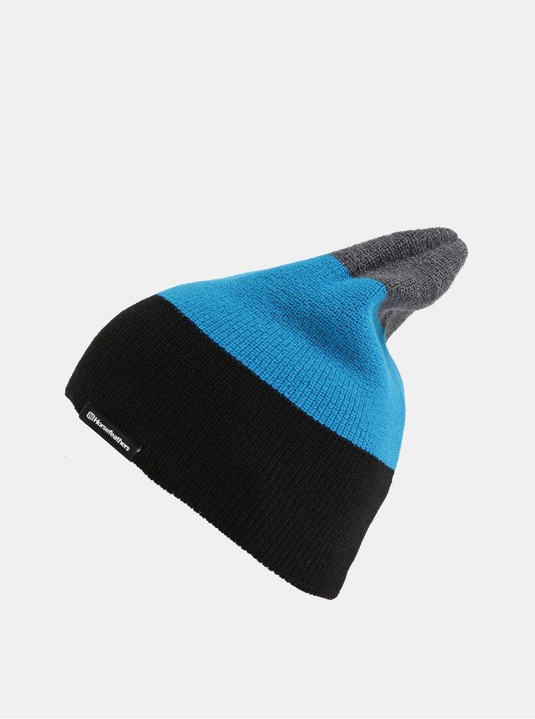 Černo-modrá pánská pruhovaná čepice Horsefeathers Matteo