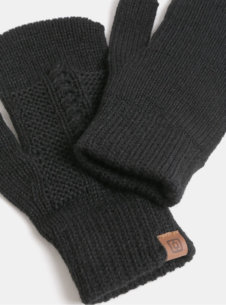 Černé dámské pletené rukavice Horsefeathers Zara