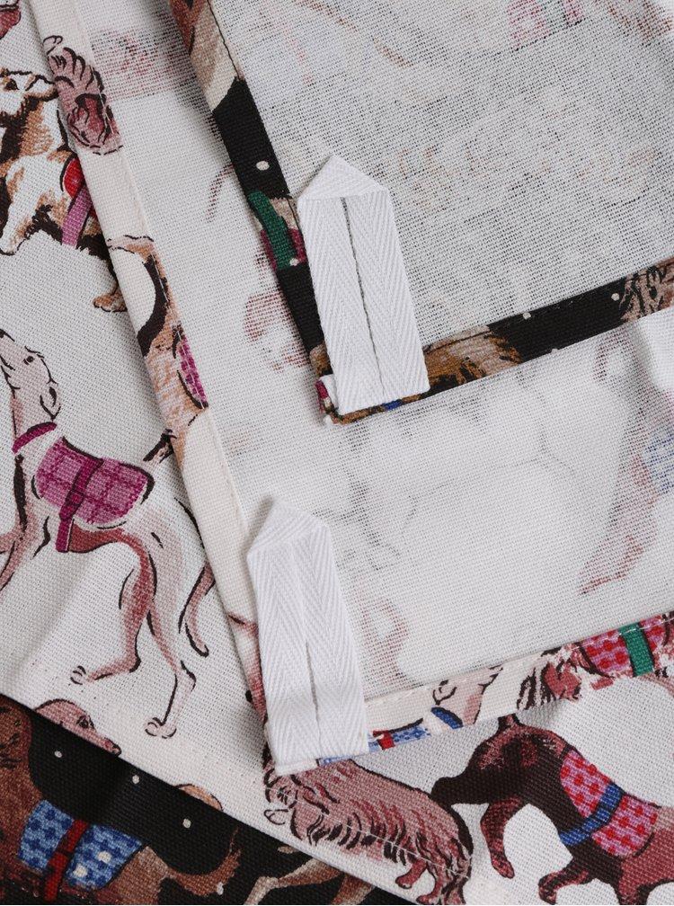 Balenie dvoch utierok v krémovej a hnedej farbe s motívom psíkov Cath Kidston
