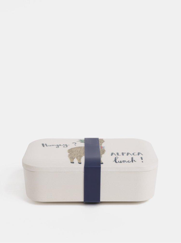 Krémový svačinový box s motivem lamy Cath Kidston