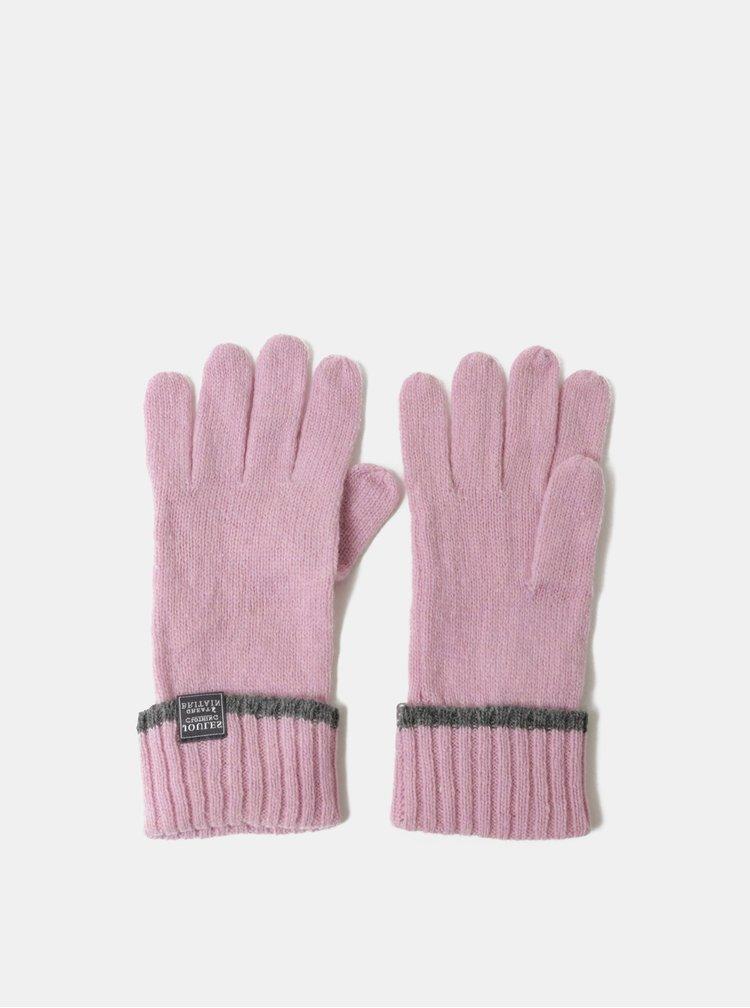 Manusi roz de dama din lana Tom Joule Huddle