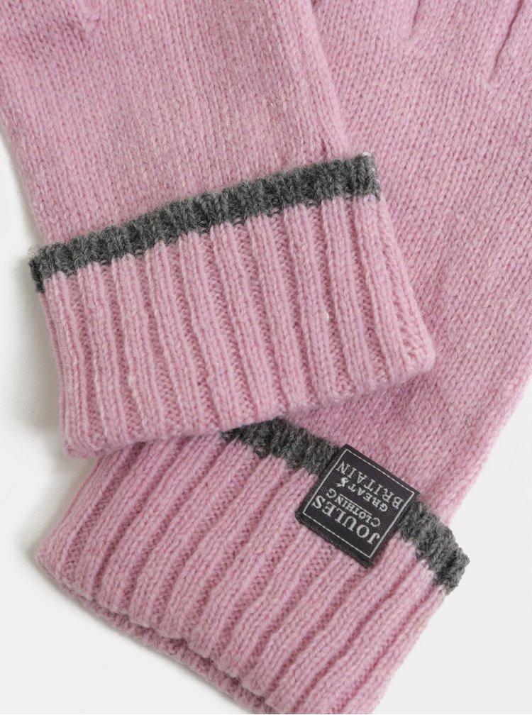 Růžové dámské vlněné rukavice Tom Joule Huddle
