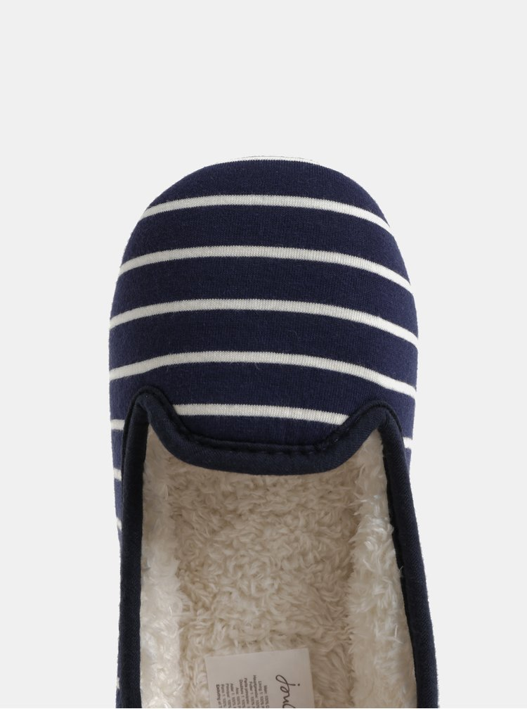 Papuci alb-albastru in dungi de dama Tom Joule