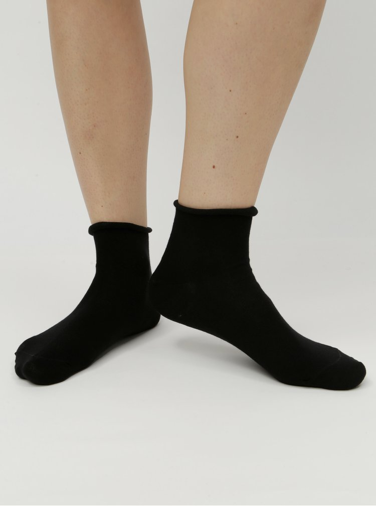 Čierne dámske členkové ponožky ZOOT
