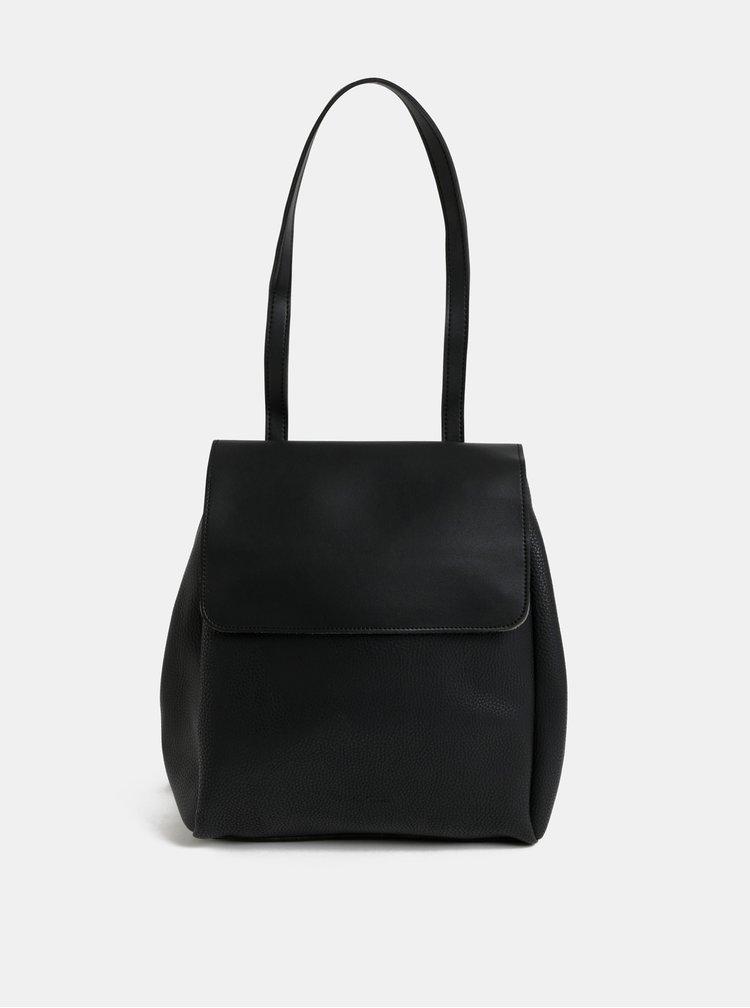 Čierna kabelka/batoh s odnímateľnými popruhmi Claudia Canova Simone