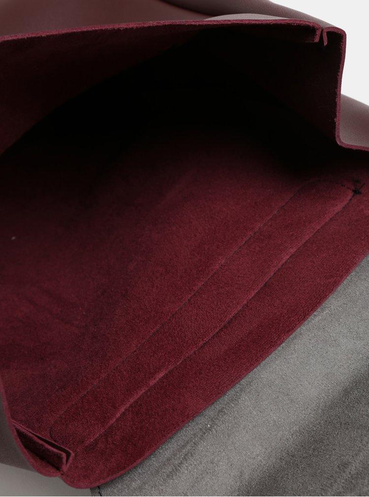 Čierno–vínová kabelka/batoh s odnímateľnými popruhmi Claudia Canova Simone