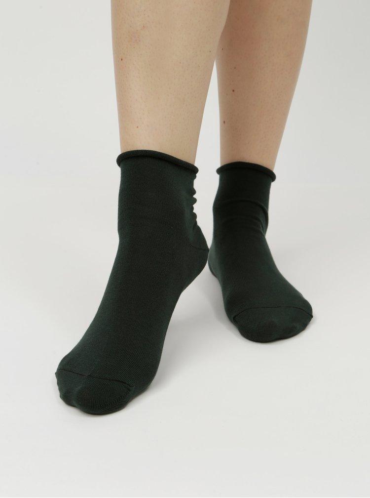 Tmavě zelené dámské kotníkové ponožky ZOOT