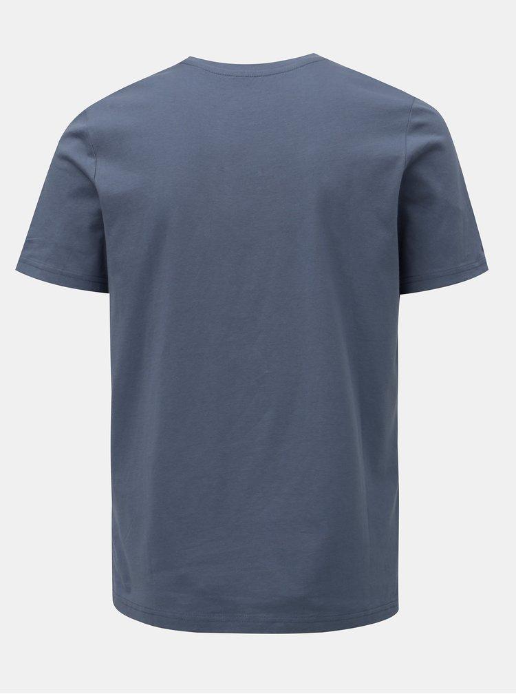 Tricou albastru cu imprimeu craniu Jack & Jones Art