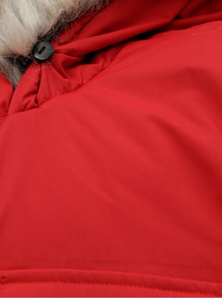 Geaca parka rosie impermeabila de iarna ONLY & SONS Stephan