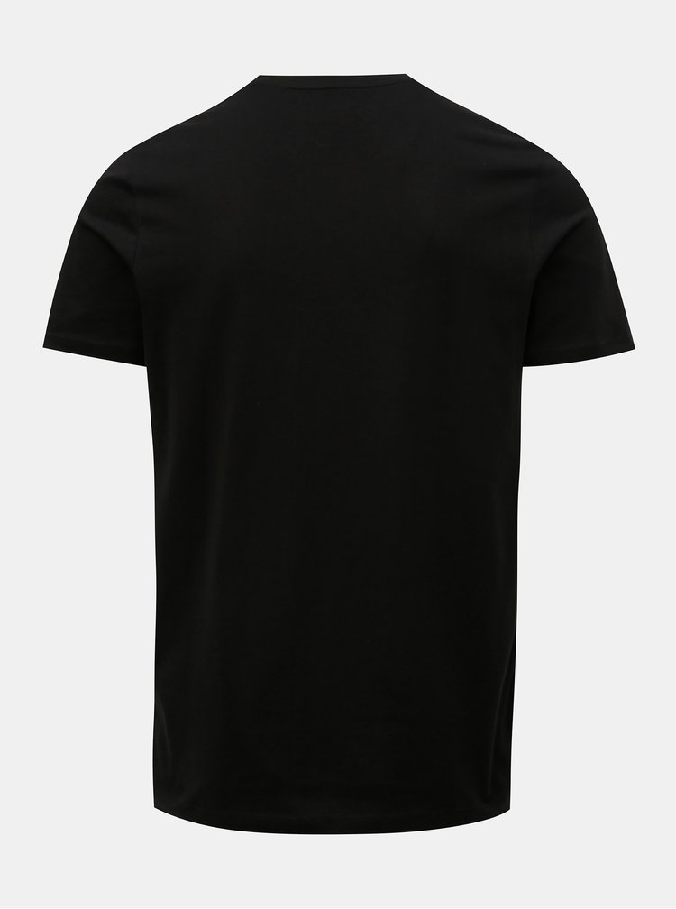 Čierne tričko s nápisom Jack & Jones Linn
