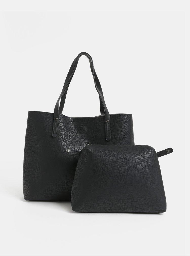 Geanta pentru shopping neagra cu portofel interior detasabil Canova Frazier