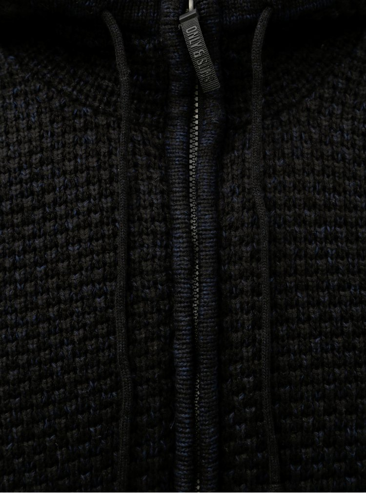 Pulover negru cu fermoar ONLY & SONS Kenneth